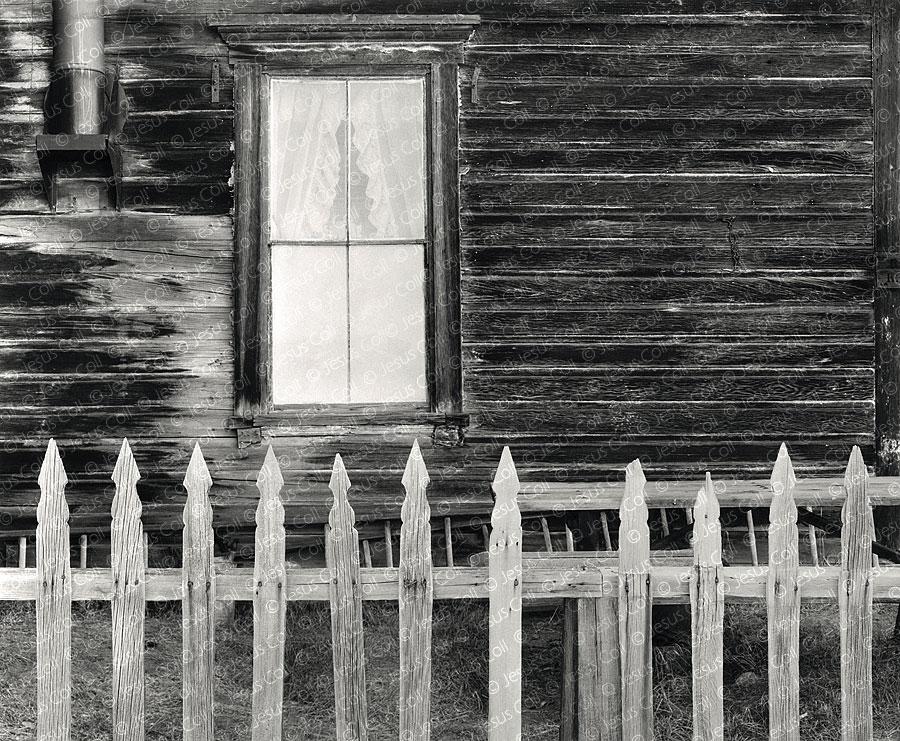 Picked Fence, Bodie, California, USA. Fotografía Fine Art en Blanco y Negro de Paisaje Urbano de Jesús Coll