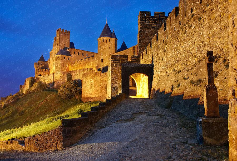 Fortaleza de Carcassonne, Francia. Fotografía de stock de Jesús Coll.