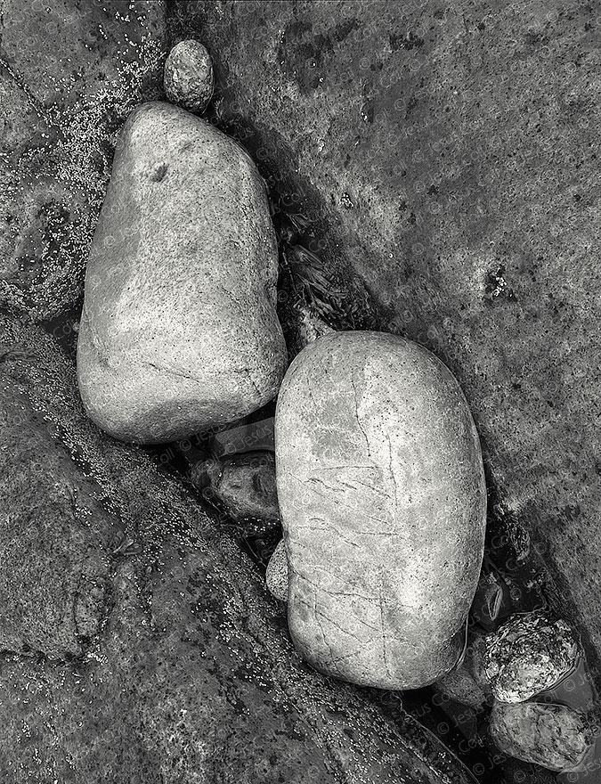Boulders, Acadia Nat'l. Park, Maine, USA