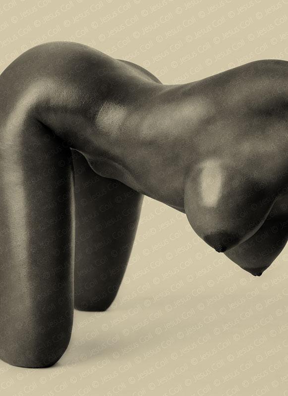 Black Body I. Fotografía de Desnudo Fine Art en Blanco y Negro de Jesús Coll