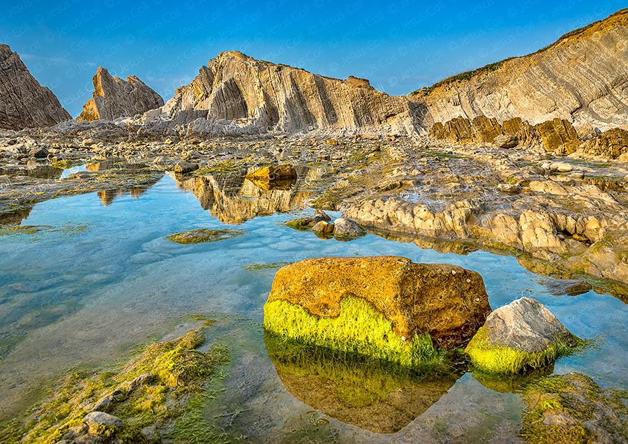 Bajamar, Playa de Arnia, Cantabria, España. Fotografía Fine Art Color de Paisajes Naturales de Jesús Coll