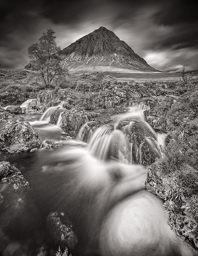Etive Mor Waterfall, Glencoe - Fineart Print