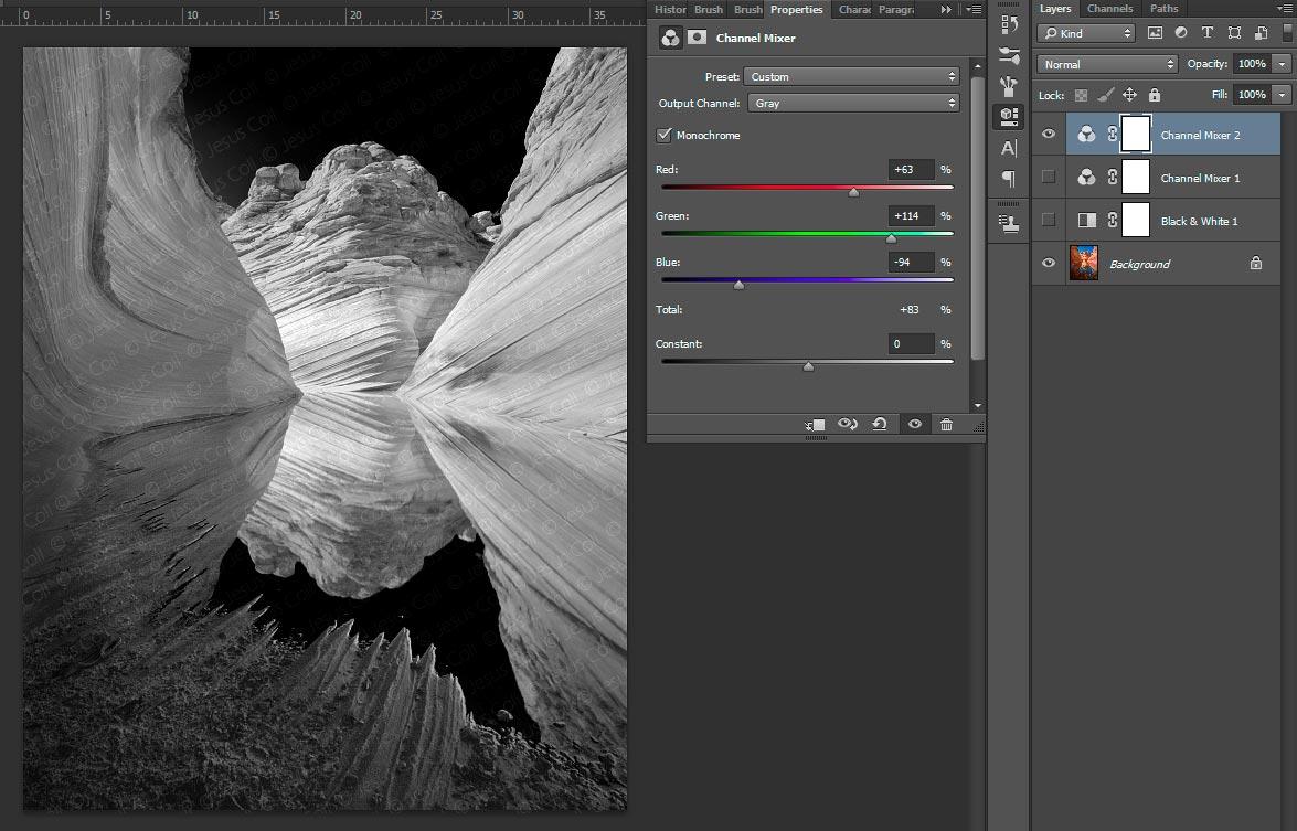 Cómo convertir en Blanco y Negro una fotografía en color ©Jesus Coll